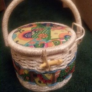 Vintage China Sewing Basket